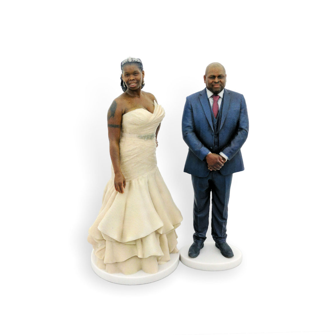 my3Dtwin, 3D Printed Custom Wedding Cake Topper of a Couple
