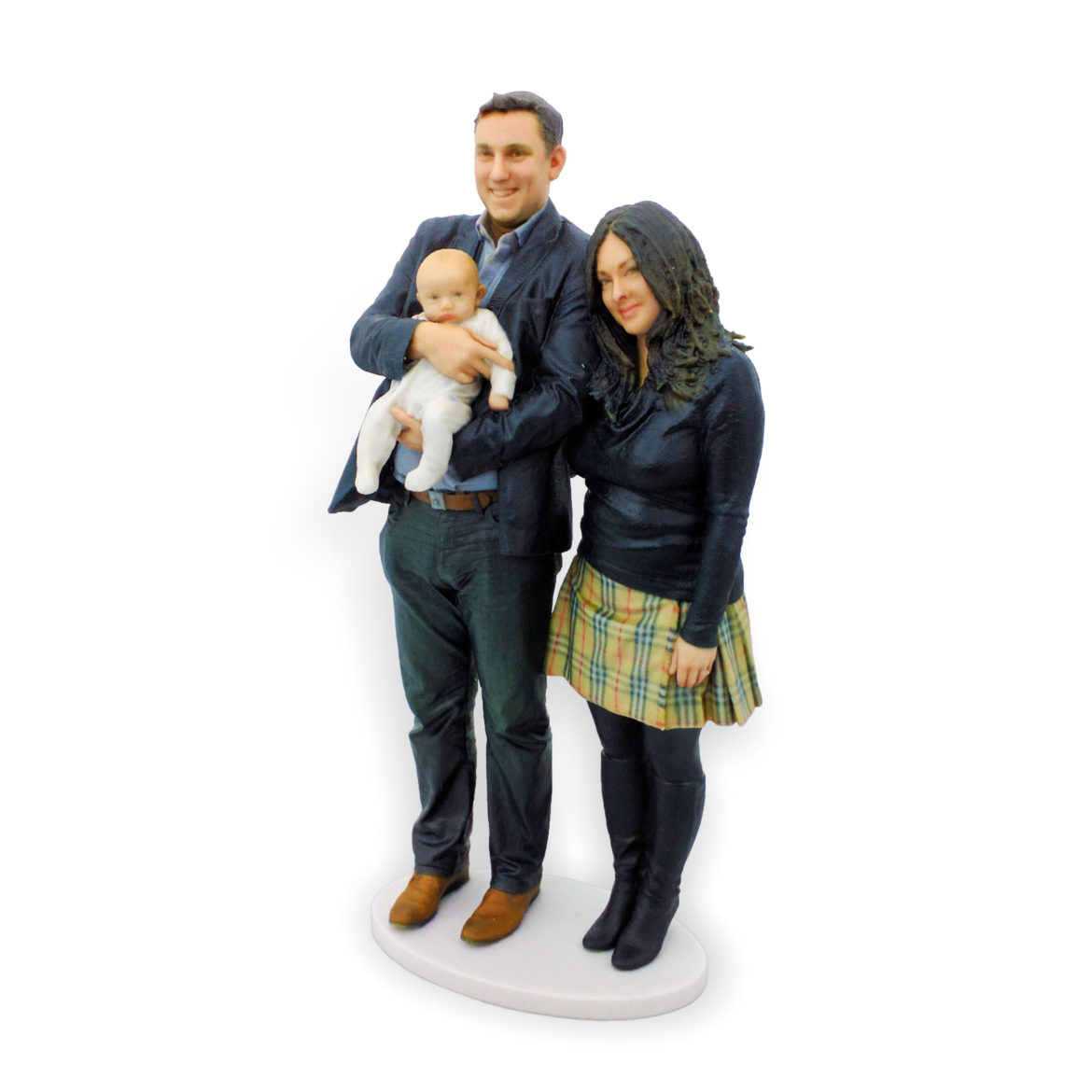 my3Dtwin, 3D Printed Figurine of family with newborn in hands