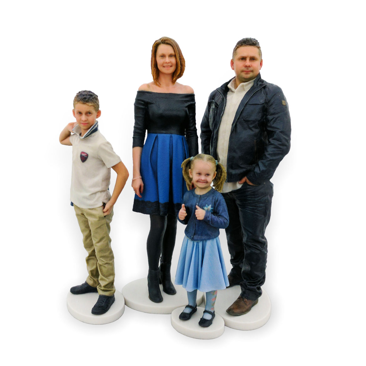 my3Dtwin, Four 3D Printed Figurines of Family