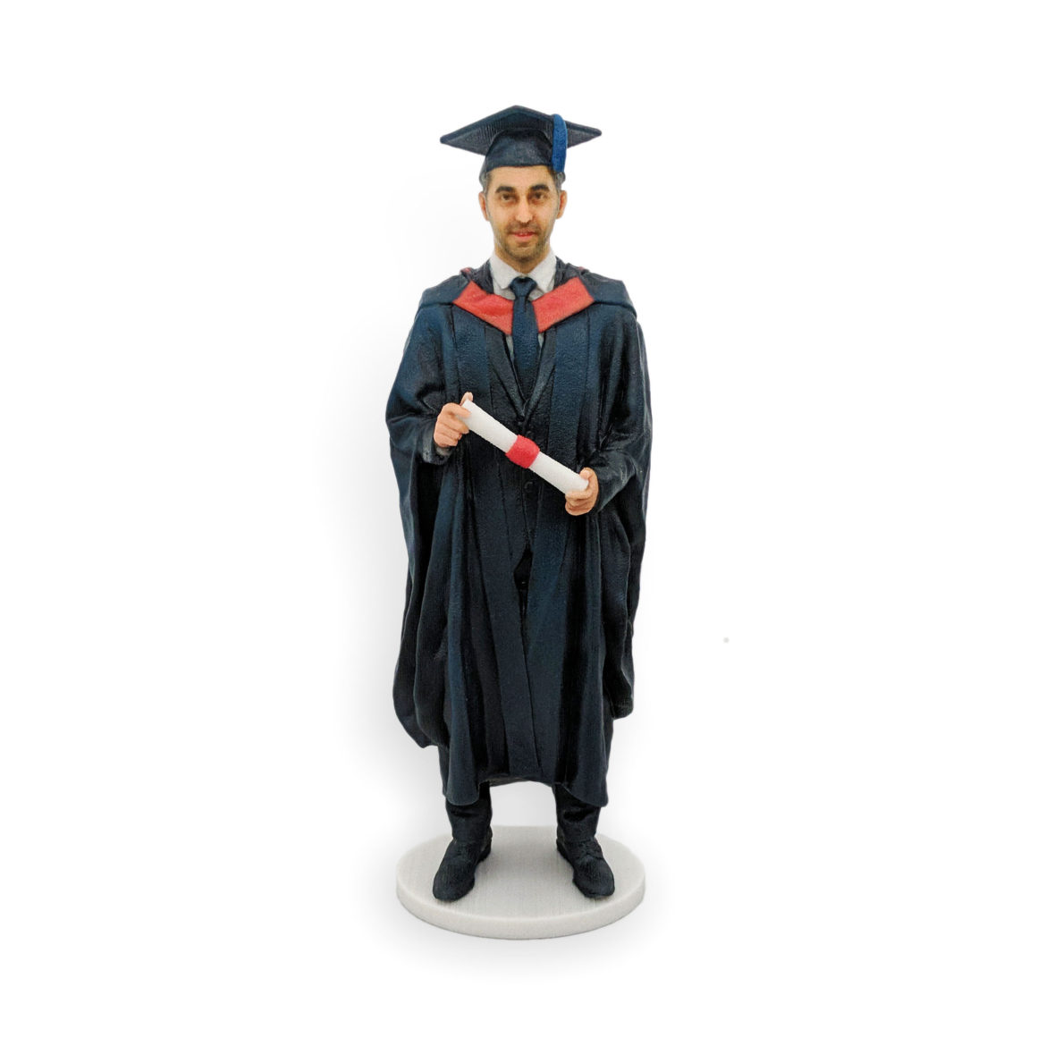 my3Dtwin, Graduation Figurine of a man in gown and scroll in his hands